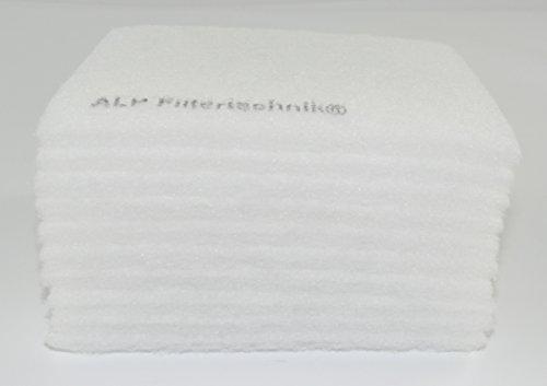 10x Ersatzfilter für Badlüfter 162x200 mm Filtereinsatz für Meltem Vario