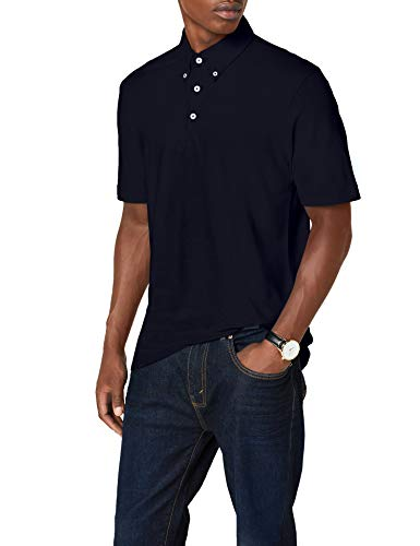 JAMES & NICHOLSON Poloshirt Men's Plain Polo, Bleu (Navy/Navy-White), (Taille Fabricant: XXX-Large) Homme