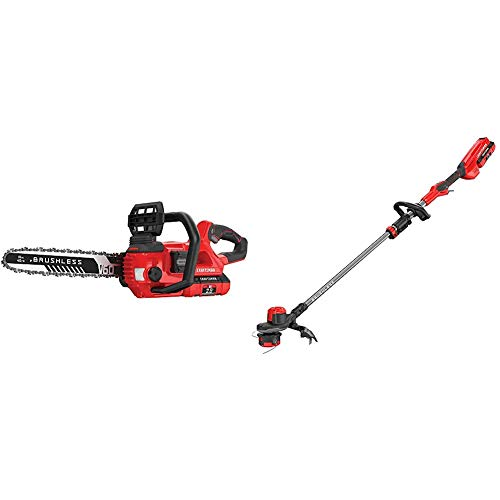 Great Price! CRAFTSMAN CMCCS660E1 V60 16 Cordless Chainsaw with CMCST960E1 V60 Brushless WEEDWACKER...