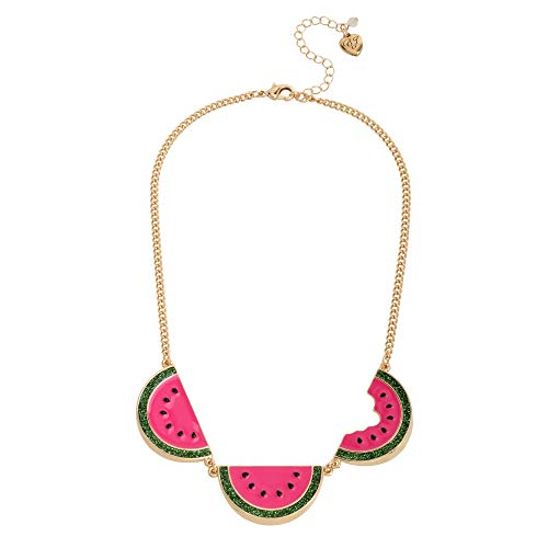Betsey Johnson Watermelon Frontal Necklace