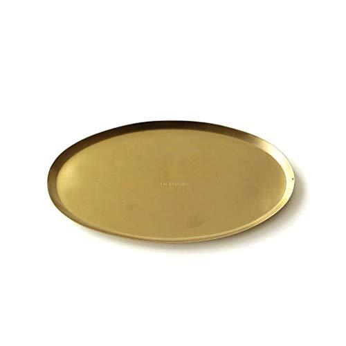 トレー トレイ ゴールド スチール 薄型 アクセサリートレイ コイントレー キートレイ オーバルトレイ インブルーム