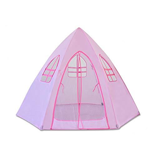 Tienda De Juegos para Niños - Hexagon Playhouse Princess Castle Play Tent, Tienda De Tiendas Transpirables para Interiores Y Exteriores Plegables (Rosa) 0329