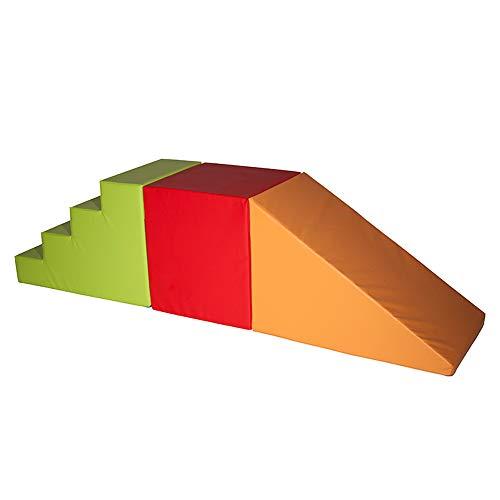 Kid Parcours De Motricité Escalier Et Pente 260cm en Mousse pour Enfants De 6 à 11an