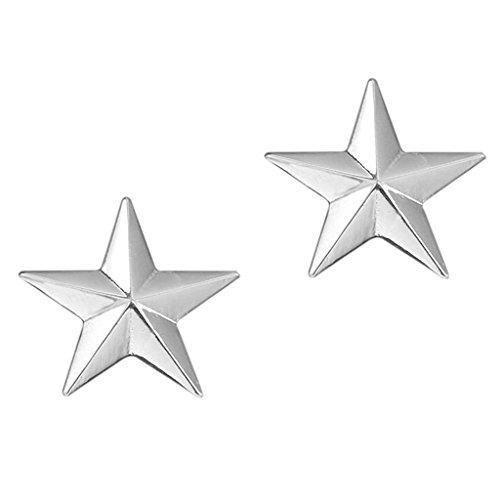 IPOTCH Moda para Hombre 3D 5 Puntos Star Broche Pin Camisa Traje Ropa Sombreros Accesorios - Plata, 2.2 x 2.2cm