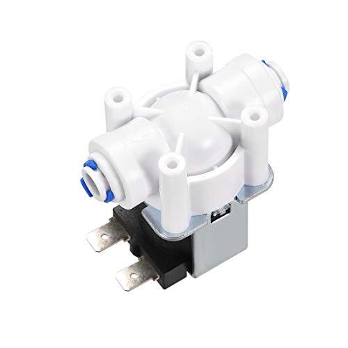 DC12V 1/4 conector electroválvula eléctrica de agua de plástico normalmente abierta, válvula...