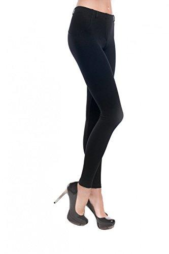Gatta Fashion Skinny Hot Leggings - modische blickdichte Leggings - Größe M - Schwarz