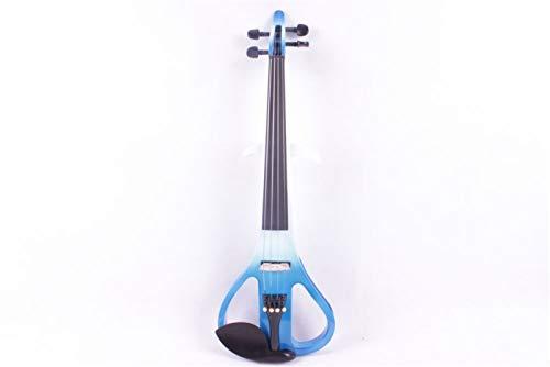 HUANH 3# 1 4 cuerdas azul y blanco violín eléctrico HUANH