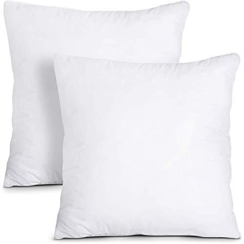 Utopia Bedding Set di 2 Cuscini - 50 x 50 cm Imbottitura per Cuscini - Tessuto Misto Cotone Cuscini Divano - Cuscino Interno (Bianco)