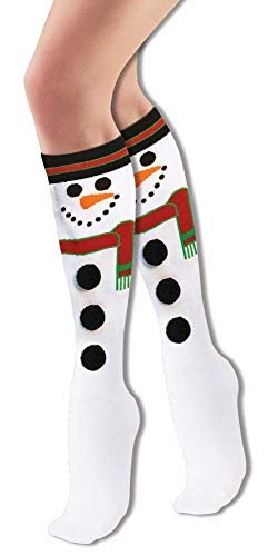 Forum Novelties Women's Adult Christmas Socks, Snowman, One Size