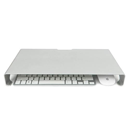 QUVIO Laptop verhoger aluminium Space Grey/Laptopstandaard/Mogelijkheid voor opbergen toetsenbord en muis/Ergonomisch werken - Grijs