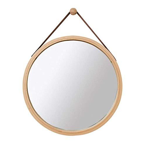 ZCXBHD Specchi Stile Nordico Moderno Minimalista Specchiera Cosmetica Specchio HD da Parete con Corda Regolabile Specchio da Barba Circolare per Bagno,B 45cm