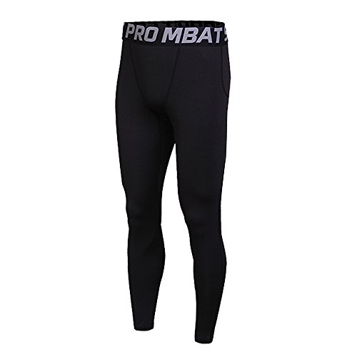 FELICON Pantaloni da Ginnastica da Uomo Sportivo di Uomo da Uomo a Compressione Indossare Abiti da Allenamento ad Asciugatura Rapida Traspirante Confortevole Leggings Base Fitness Pantaloni Termici