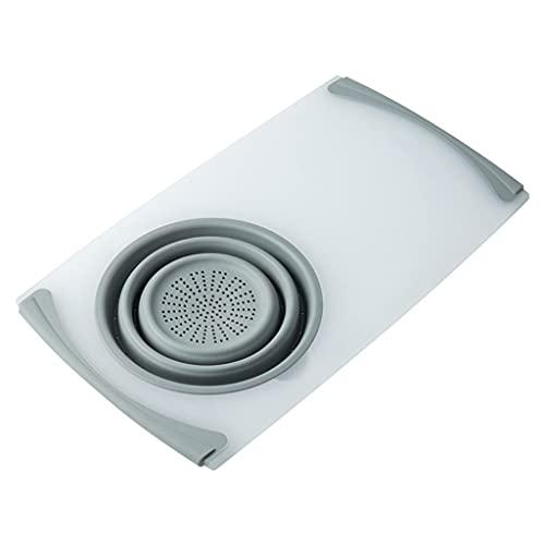 Tabla de Cortar Tablero de corte multifuncional Tableros de corte plegables desmontables de cocina fregadero de cocina Cesta de desagüe, plástico y silicona Tablas de Cortar Cocina