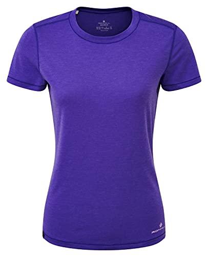 Ronhill Life Tencel S/S tee Camiseta, Plum Marl/Heather, 4-8 para Mujer