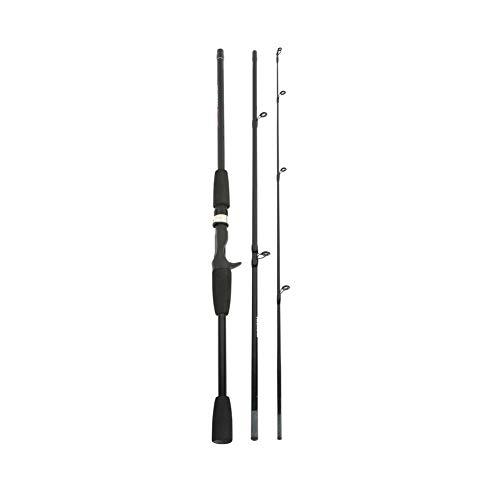 Balai Spinn-Ruten, Glasfaser Power Hand Angelrute, Abnehmbare 3 Abschnitt Casting Rod Spinning Angelzubehör (1,8 m / 2,1 m)