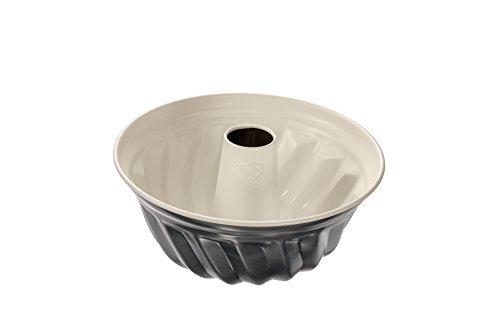 Dr. Oetker Gugelhupfform Ø 22 cm, Backform für Gugelhupf, runde Bundform aus Stahl mit keramisch verstärkter Antihaft-Beschichtung (Farbe: creme/anthrazit), Menge: 1 Stück
