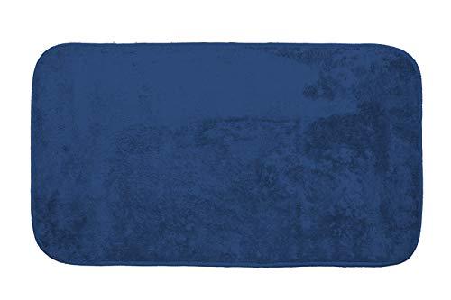GEMITEX Tappeto MERLINO 40X70 Blu ULTRASSORBENTE, Polyester