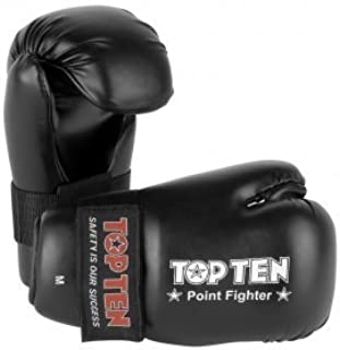 Top Ten Black Semi Contact Point Sparring Gloves