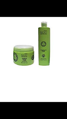 nicky paris Shampoing et Masque Vegan (500 ml chacun)