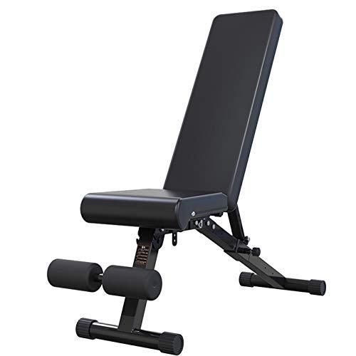 Flachbank für Bankdrücken, Bauchtraining & Fitness Schwerlast-Klappbank for den Heimgebrauch, Klapphocker Hantel for Fitness Stuhl, Verstellbarer Stuhl mit Hantel Fitness Stuhl sitzt auf der Bank for
