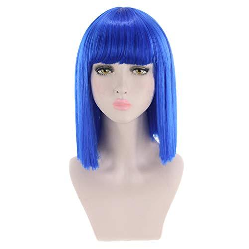 foreverH Haarstyling Produkte FORH Cosplay Perücke Haarreife Haarteile Hair Miraculous Ladybug Cos Perücke Doppel Pferdeschwanz Anime Cosplay (34CM, Lila)