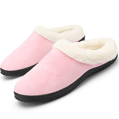 Pantuflas de Invierno para Hombre y Mujer Zapatillas de Invierno Unisex Antideslizantes CáLido Zapatillas para Interior y Exterior Talla