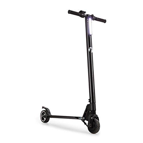 TAKIRA Racing Sc8ter - scooter, e-scooter, elektrische scooter, easy-fold functie, LED-koplampen, tot 22 km/h, 28 km bereik, 5 snelheden, max.120kg, aluminium, zwart