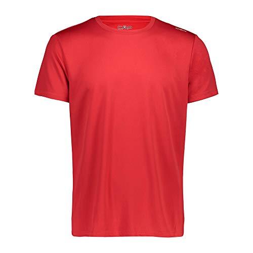 CMP Camiseta de piqué de Manga Corta para Hombre, Hombre, Camiseta, 39T7117, Rojo (Ferrari), 4XL
