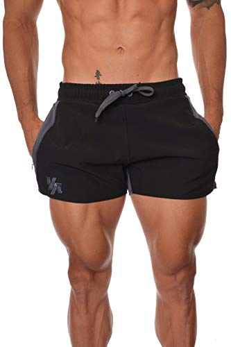 YoungLA Men's Bodybuilding Gym Running Shorts 101 XX-Large Gray