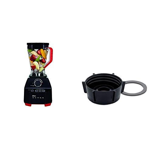 Oster Versa Performance Batidora de alto rendimiento, 1400 W, 1.9 litros, Plástico, Negro + 004902-050-000 - Base de Batidora de Vaso y Anillo de Sellado, color Negro