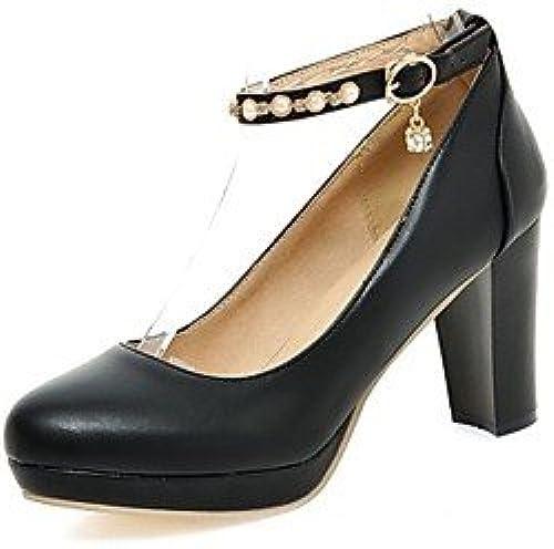 Zormey Chaussures Femmes Talon Talons Plateforme Round Toe Heels Office &Amp Carri¨¨re Noir Bleu Rose Blanc Noir Us6.5-7   Eu37   Uk4 5-5   Cn37