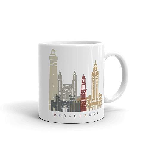 Casablanca Marruecos Taza de café, regalo para el hogar, taza de té, regalo de Acción de Gracias, regalo de Navidad, 11 onzas