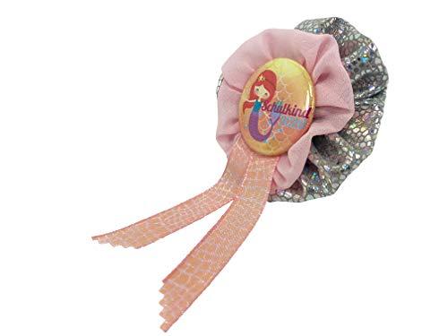 AnneSvea Orden Schulkind 2020 Set rosa Meerjungfrau Einschulung mit Stundenplan und ABC Poster Schultüte Zuckertüte Deko Geschenk Mitbringsel