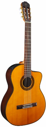 Takamine GC5CE-NAT Acoustic Electric Classical Cutaway Guitar,Natural