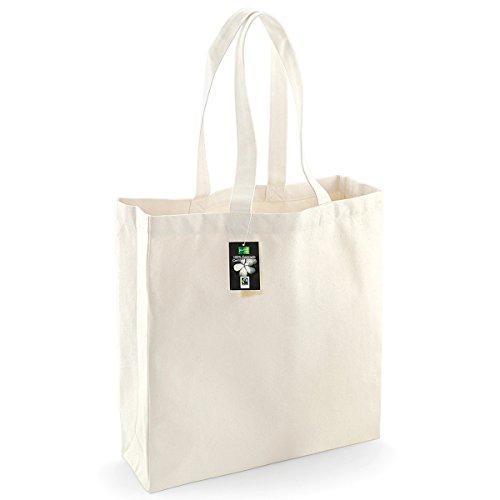 Westford Mill Baumwoll-Einkaufstasche, 21 Liter (2 Stück/Packung) (Einheitsgröße) (Natur)