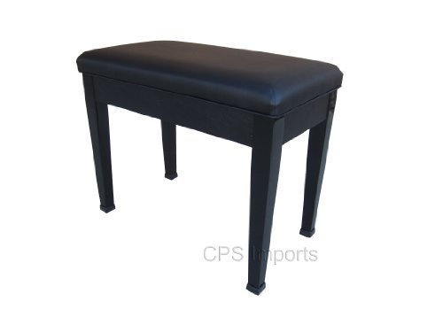 Buy Discount Ebony Digital Piano Bench Stool with Music Storage