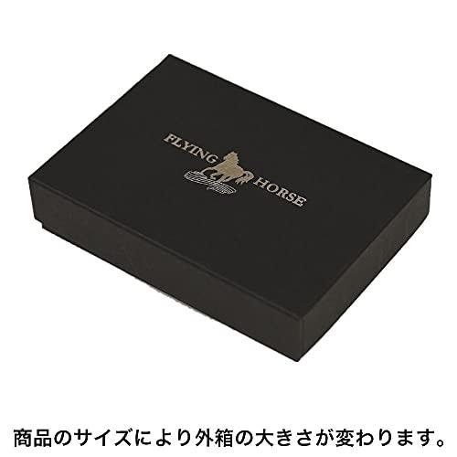 [フライングホース/FLYINGHORSE]小銭入れ名入れ刻印無料コードバンレザー使用コインケースメンズ(01.ブラック)