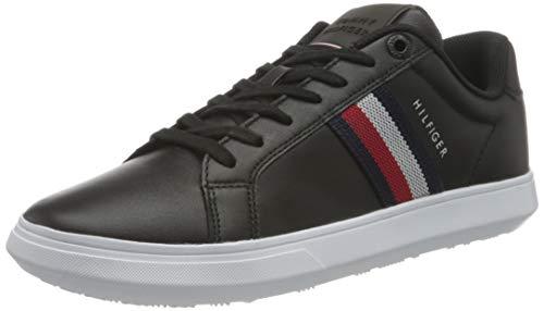 Tommy Hilfiger Herren Essential Leather Cupsole Sneaker, Schwarz, 43 EU