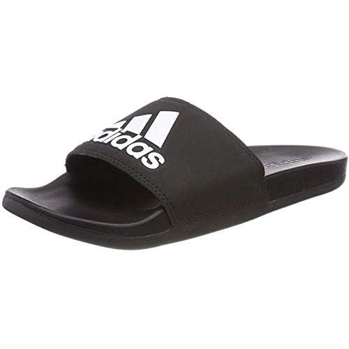 Adidas Adilette CF+ Mono, Scarpe da Spiaggia e Piscina Uomo, Nero (Cblack/Cblack/Ftwwht Cg3425), 44.5 EU