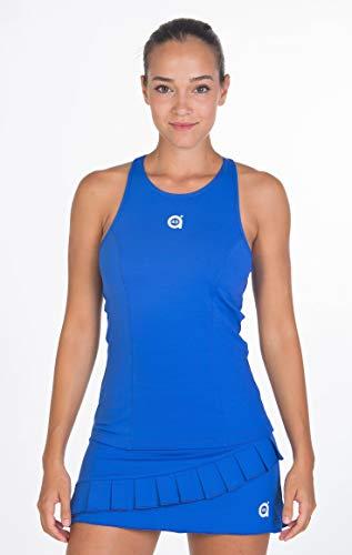 a40grados Sport & Style, Carina Maglietta, Donna, Tennis e Paddle (Blu, 44 XL)