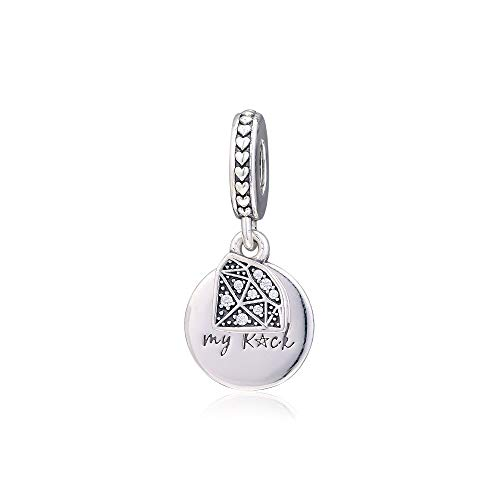 LIIHVYI Pandora Charms para Mujeres Cuentas Plata De Ley 925 Joyas My Rock Joyas Perle Compatible con Pulseras Europeos Collars