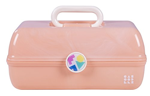 Caboodles On-The-Go Girl Retro Case, Peach Marble