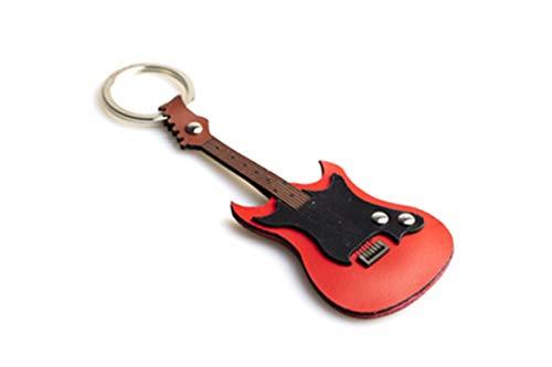 Sleutelhanger, leer, E-gitaar, pca 147