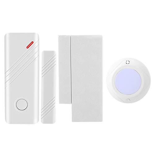 Draadloos veiligheidsalarmsysteem, DIY veiligheidsalarmkits met 1 Sound Light Sirene 1 deur venster magneetsensor (JD11 + MC-03B)