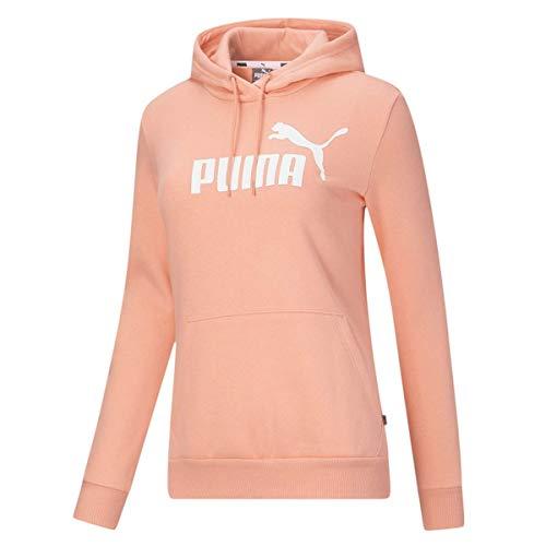 PUMA Essentials Logo - Chaqueta deportiva con capucha para mujer, color melocotón