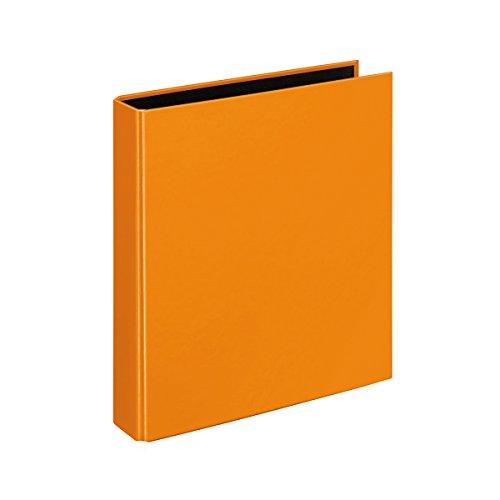 Veloflex 1153330 Ringbuch VELOCOLOR, Ringordner, Ordner, DIN A5, 4-Ring-Mechanik, 200 x 230 x 45,Karton,orange