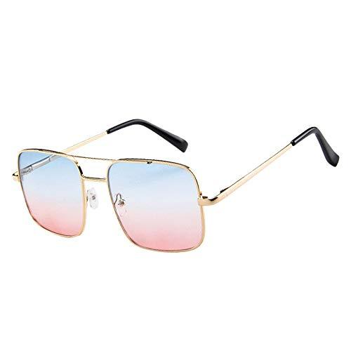 ZEZKT gafas de sol para hombre y mujer moda casual elegante sunglasses nuevas gafas de sol unisex uv polarizado piloto clásica vintage retro gafas Rojo 41