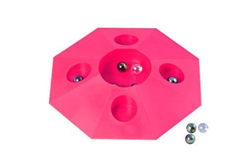 Engelhart – 502002 - Juego 6 canicas con Plato – 22 cm (Rosa)