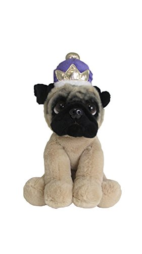 KIDS PREFERRED Doug The Pug Royal Crown Large Stuffed Animal, 10