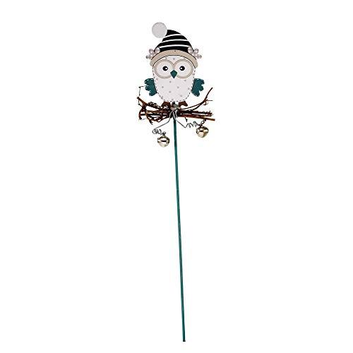 STEFANAZZI 12 Pezzi Decorazioni Albero di Natale addobbi Natalizi da Appendere Decorare la casa segnaposto Decorazioni ghirlande Gufi con stecco